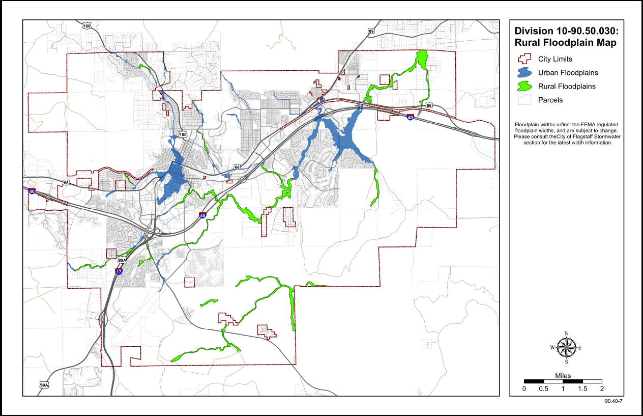 Map Of Flagstaff Arizona.Rural Floodplain Map City Of Flagstaff Official Website