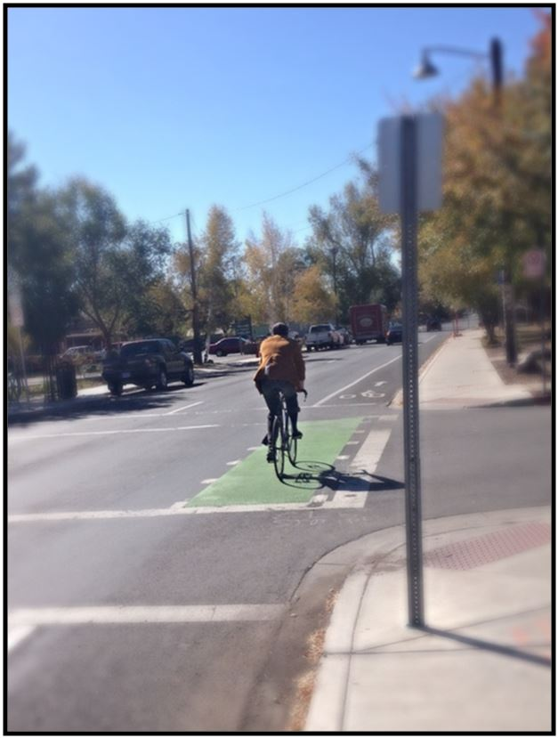 Cottage Ave. and Beaver St. Green Bike Lane