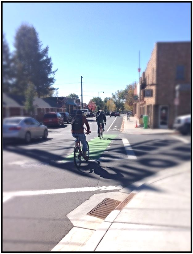 Phoenix Ave. and Beaver St. Green Bike Lane