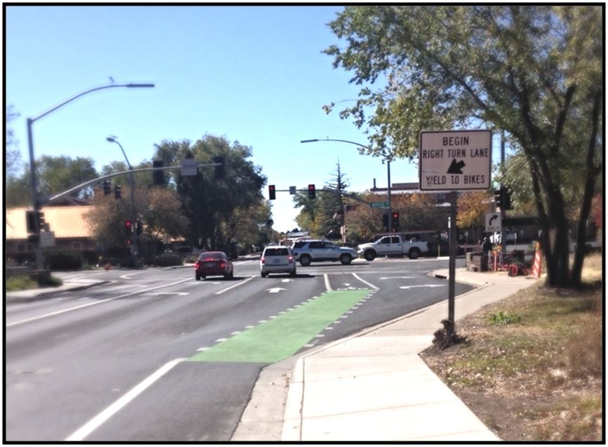 Butler and Beaver Green Bike Lane