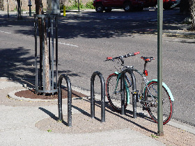 Bicycles Parked in Designated Area