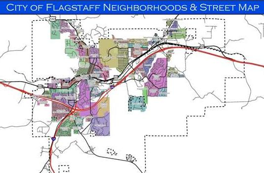 Flagstaff Neighborhoods Map