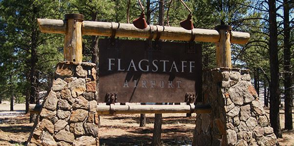 Flagstaff Airport entry sign