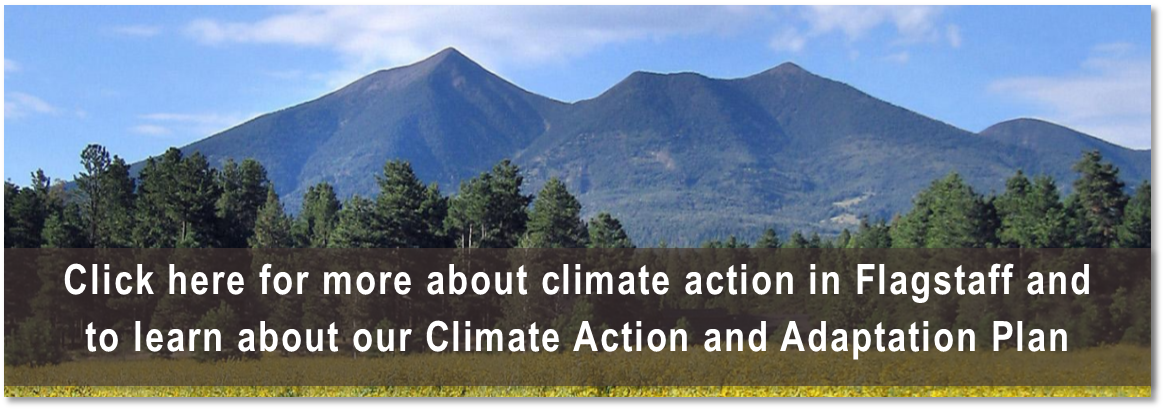 Click here for more about climate action in Flagstaff and to learn about our Climate Action Plan