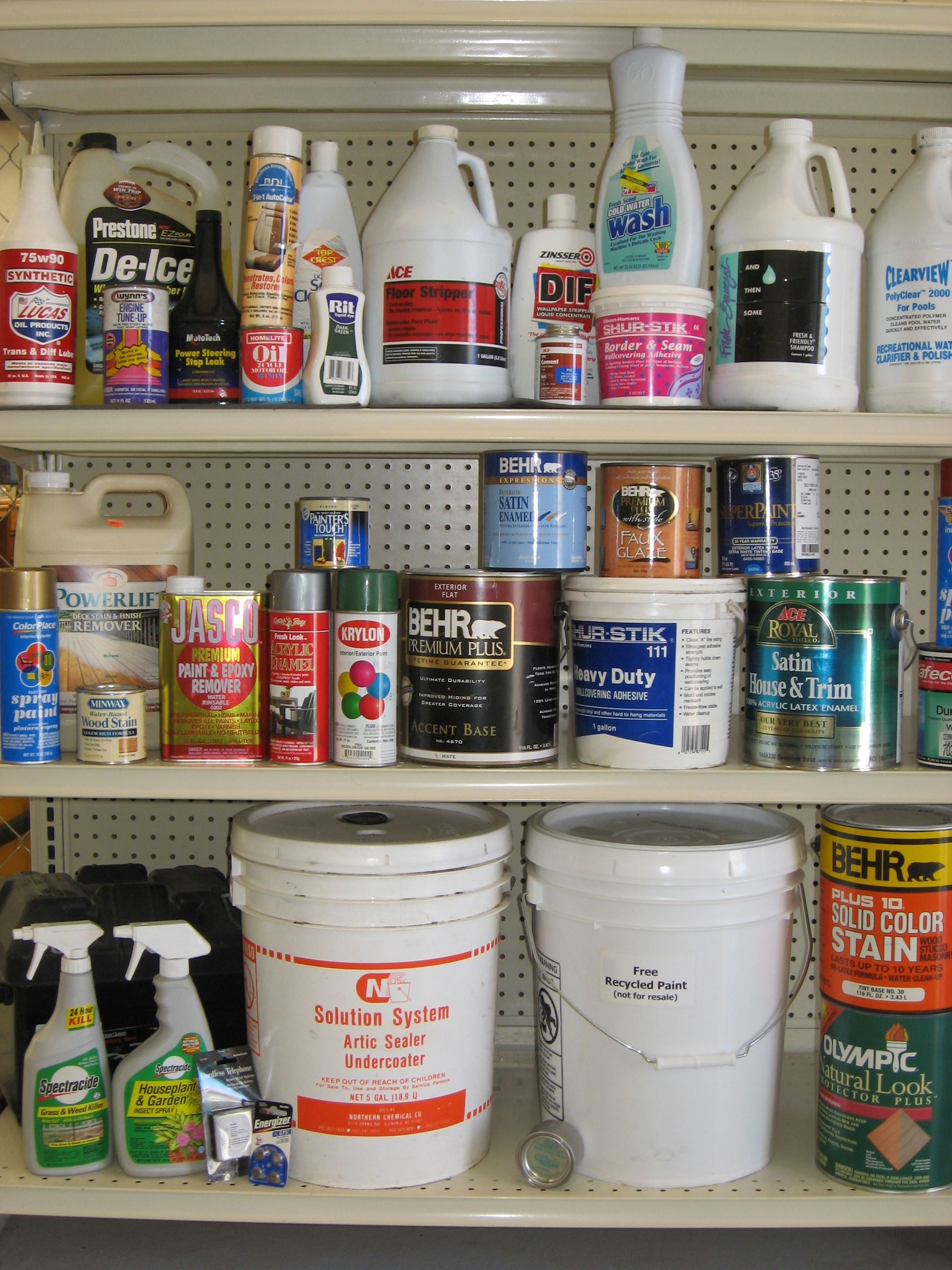 Household Hazardous Waste Examples