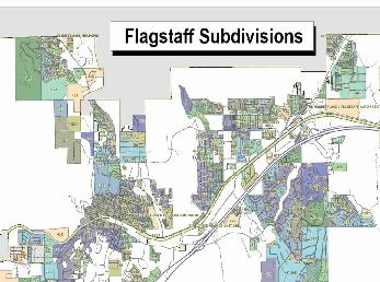 Flagstaff Subdivisions Map