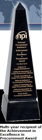 Achievement in Excellence in Procurement Award