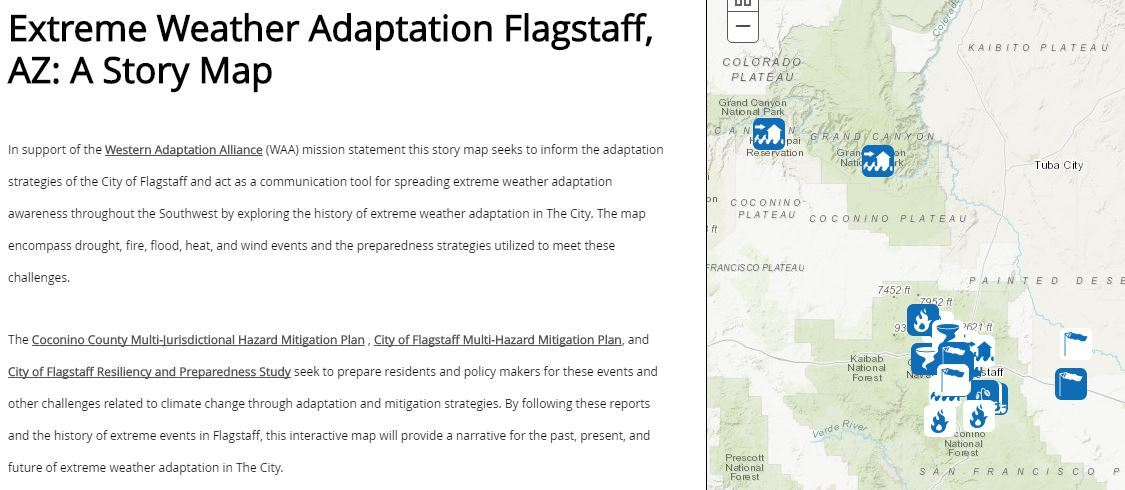 Map Of Northern Arizona Cities.Climate Impacts In Northern Arizona City Of Flagstaff Official Website