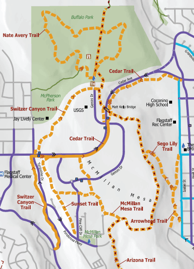 Map of McMillan Mesa Park