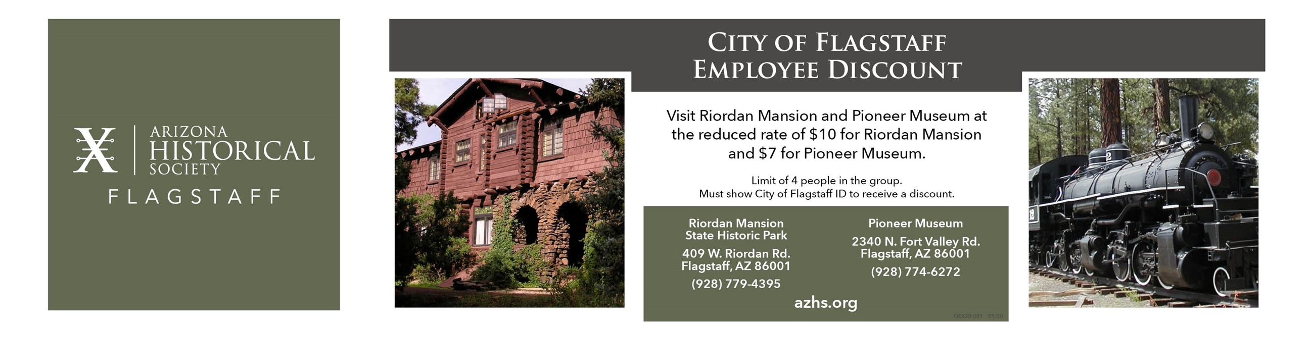 Riordan and Pioneer Museum Flagstaff Employee Discount