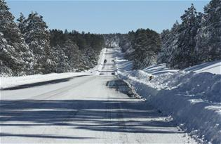 Photo of snow on road