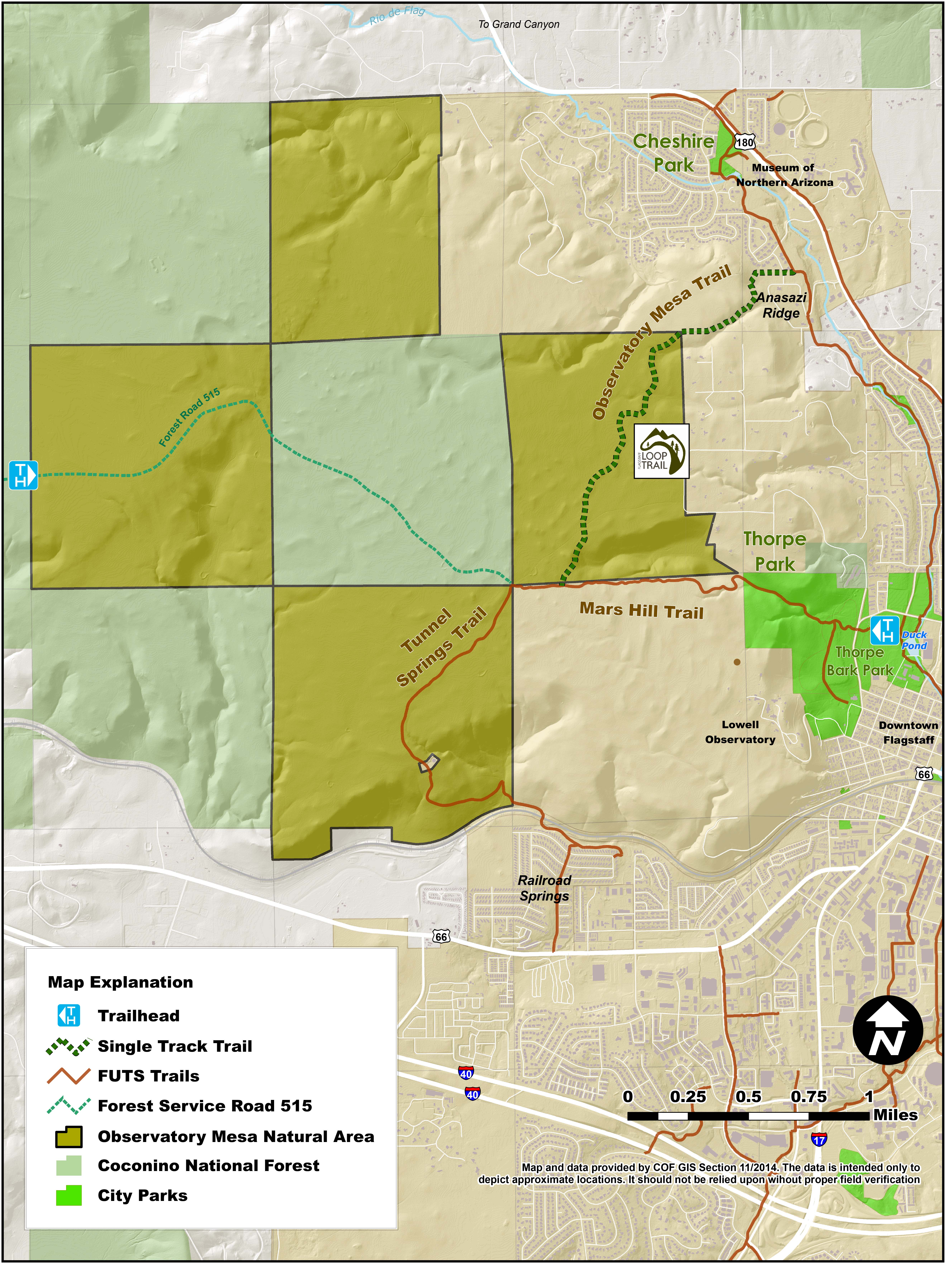 City of flagstaff official website observatory mesa for Az game and fish portal