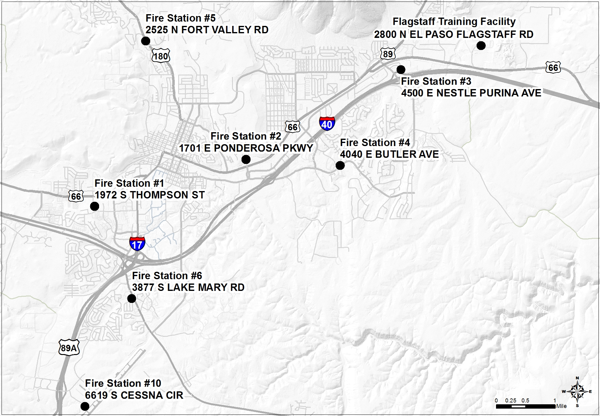 Flagstaff Fire Station Map