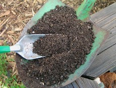 a pile of finished compost